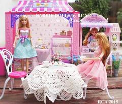 Barbie bakery & Licca cake shop (Barbie dolls by RCA) Tags: rose cake shop miniature barbie royal bakery licca dollhouse 2015