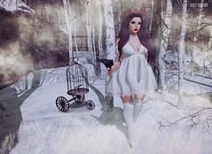 Warm on a cold night.. (Sistine Kristan (Sisely) - Toolbox Chicks) Tags: winter snow fashion photography blog sl wreath secondlife raven reign ison gacha elikatira
