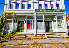 Forgotten In America (Catskills Photography) Tags: odc oldfashoined building streetphotography storefront flag canon1022mmlens sullivancounty