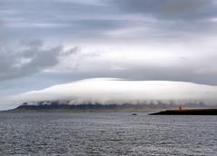 Cloud Cap (Gary Grossman) Tags: reykjavikharbor reykjavik harbor garygrossmanphotography shotsofawe seascape landscape landscapephotography latesummer clouds cloudcap peninsula iceland reykjanespeninsula reykjanes penninsula