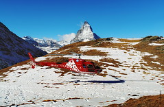 Goodbye! (welenna) Tags: alpen autumn alps switzerland snow schwitzerland schnee sky swiss view berge blue mountains mountain matterhorn landscape light licht relief helicopter clouds cloud