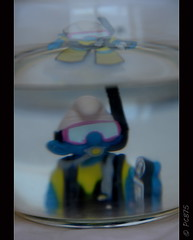 Prova superada!! (PCB75) Tags: barrufet pitufo smurf schtroumpf noembarrufa submarinista dive diving subaquàtic sireneta foradada pintada aprofitada rebregada arrugada aigua bocas astúcia tristesa noestàmal apretat riure rialles laughs saldo totteu totateva trump tenimelquemereixem brut fair opac relax neoprè lleig decebedor aprofitat comhadeser millor suitable submarinisme bonic interessant got dolça