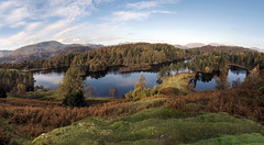 Tarn Hows (Autumn) (Jonnyfez) Tags: tarn hows coniston lake district national park cumbria autumn colour color trees reflections panorama jonnyfez d750 fall water landscape beautiful vista viewpoint