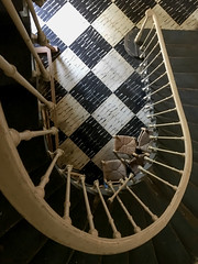 checkered (rick.onorato) Tags: haiti port au prince stairwell bannister checkers