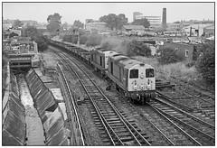 Rumbling through Rycroft. (geoff7918) Tags: ryecroftjunction walsall 20011 20081 platewagon coachyard