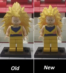 old vs new ssj 3 goku (teamfourstud) Tags: 3 decool bootleg custom dragonballz dragon ball z supersaiyan dragonballgt gt dragonballsuper dbs minifigure figure mini decals dragonball minifigures figures world martial arts tournament ssj ssj3 haul printing 3d shapeways bragonball dbz lego goku super saiyan