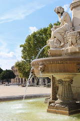 Water fountain in Nimes (big_jeff_leo) Tags: nimes france roman temple arena building stone ancient architecture city facade fountain french empire old pilar column