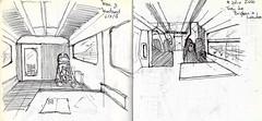 Viajando en tren en Inglaterra (Andrs Goi :: www.andresgoni.cl) Tags: sketch croquis dibujo arquitectura lapiz mano handwrite architecture europa inglaterra england london train tren italy italia florencia firenze sienna
