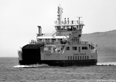 Scotland West Highlands Argyll car ferry Loch Shira 16 August 2016 by Anne MacKay (Anne MacKay images of interest & wonder) Tags: scotland west highlands argyll caledonian macbrayne car ferry loch shira monochrome blackandwhite xs1 16 august 2016 picture by anne mackay