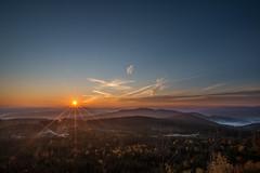 """Sunset from Nebelstein (anton_zach) Tags: sonne sonnenaufgang himmel herbst herbstsonne nebel nebelstein landschaft waldviertel sonnenstrahlen outdoor"