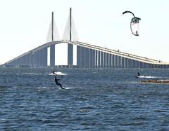Kite surfing near Skyway Bridge in St. Petersburg (21) (Carlosbrknews) Tags: kitesurfing stpetersburg skywaybridge tampa bay florida