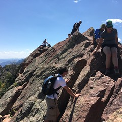 Bear Peak - Boulder (brucetopher) Tags: mountain hike climb climbing rock rocks peak tip top summit divide hilly mountainous mountainclimber climber people backpack backpacker man woman athletic strong success achievement achieve overcome brave