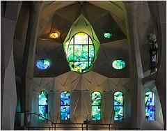 La Sagrada Familia (kurtwolf303) Tags: sagradafamilia church kirche kirchenfenster basilika barcelona spain spanien antonigaudi building gebäude holy windows canoneos600d 250v10f topf25 stainedglass 500v20f topf50 katalonien catalunya 800views topf75 900views 1000v40f topf100