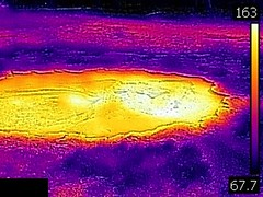 Thermal image of Shield Spring (late afternoon, 11 August 2016) 2 (James St. John) Tags: shield spring castle group upper geyser basin yellowstone hotspot volcano wyoming hot springs thermal image temperature