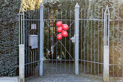 A Happy Welcome (grasso.gino) Tags: nikon d5200 tür tor eingang dorway entrance ballons