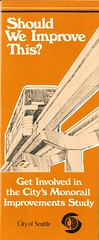 Monorail improvements brochure, 1979 (Seattle Municipal Archives) Tags: seattlemunicipalarchives seattle seattleengineeringdepartment monorail brochures ephemera 1970s