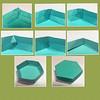 hexagonal box seamless top (mganans) Tags: origami box caja