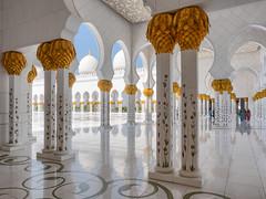 Abu Dhabi - Sheikh Zayed Grand Mosque (5) (Karsten Gieselmann) Tags: 1240mmf28 abudhabi architektur asien em5markii farbe gold hdr mzuiko microfourthirds olympus reise sakralbauten sheikhzayedgrandmosque vae weis architecture color golden kgiesel m43 mft travel white snshdr