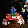 Christmas Gifts And Red Wagon (redhorse5.0) Tags: christmas radioflyerwagon redwagon christmasgifts christmastree lights redhorse50 sonya850 joy littleredwagon yarddisplay