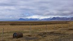 Icelandic fences got the best views - HFF! (lunaryuna) Tags: iceland westiceland snaefellsnespeninsula landscape pastures mountainrange snaefellsjokull volcano glacier spring season seasonalbeauty solitude fence fencefriday hff luanryuna