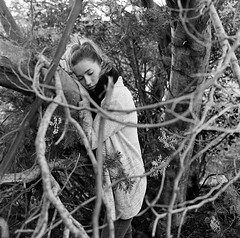 Aprs la tempte (lizardking_cda) Tags: hasselblad medium moyen format film analog ilford delta400professionaldp400 portrait model shooting beautiful belle woman femme fille girl blonde nice france cte azur riviera mandelieu colline hill montagne mountain tanneron tree arbre feuilles leaves nature winter blossom floraison mimosa chercherlafemme eoshe forest fort glamour wood bois cold wind froid vent coat melancholy mlancolie spleen manteau sexy tristesse sadness sad triste love amour polish mood cloudy bw nb romantic