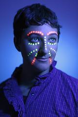 Megan and the Black Light (budrowilson) Tags: canon 5dmarkiii sigma50mmf14dghsmart blacklight uvlight portrait strobist