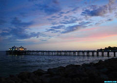 SummerSundayEveningMalibuPier (mcshots) Tags: usa california socal losangelescounty summer sunset coast sky clouds hot humid evening sun 2015 stock mcshots