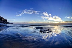 Aint goin to Goa (pauldunn52) Tags: traeth mawr whitmore stairs glamorgan heritage coast wales wet sand cloud reflections canon eos d europe