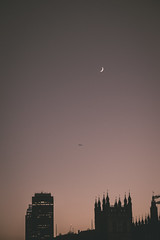 From Up Above (aris.sfakianos) Tags: airplane moon venus bigben evening sky colours beauty