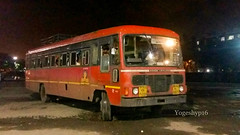 Borivali - Yelwan (yogeshyp) Tags: msrtc st borivaliyelwanstbus msrtcparivartanbus lanjast