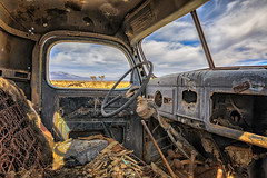 Between a Rock and a Hard Place (KPortin) Tags: ballerat california abandoned abandonedtruck stars pipe rusty ghosttown htt rustyandcrusty