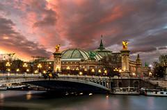 Pont Alexandre III et Grand Palais, Paris {Explore 04/12} (DB landscapephotographer) Tags: paris sunset cityoflights agphotographe explore