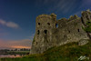 Laid in Waste (Tim van Zundert) Tags: carew castle castell caeriw fort pembrokeshire derelict decay history national park night evening light pollution stars lake long exposure sony a7r voigtlander 21mm ultron