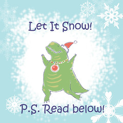 December News (Sweet_Sign) Tags: sale discount markdown priceoff action promo code trex tyrannosaurus sweetsign paleo paleoart art pic pict picture image christmas celebration letitsnow winter vacation