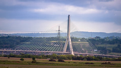 The Flintshire bridge. (ledwar) Tags: bridge riverdee suspension spanning