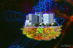 City-set-a-Drift (Carl Kitzke) Tags: scifi fantasy portland outerspace digitalart carlklitzkeart