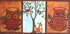 Woodland (detail) Row 3 (dobie256) Tags: tree bunnies birds animal critter owl rabbits 2015 swapbot pocketletter