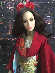 Tokyo by night (Sybarite Peonie) (Nina-chan) Tags: doll peony salon kimono gown exclusive genx peonie generationx superdoll syabrite rebelprincess pamperedpanther