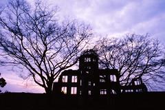 atomic bomb dome in the evening 1998 (mai-u) Tags: hiroshima