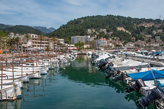 Port de Sller (RolandBrunnPhoto) Tags: city sky mountains tree clouds port boats spain europa europe village forrest himmel wolken berge stadt hafen mallorca wald baum schiffe spanien mediterraneansea mittelmeer nikond90 wasserwater