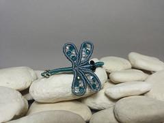 margarete libellula bracciale (elenagb) Tags: dragonfly bracelet libellule bracciale macram margaretenspitze