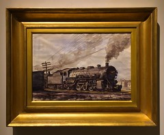 Railroad Yard (ArtFan70) Tags: railroad usa art america train painting unitedstates riverside florida south jacksonville fl marsh artmuseum railroadyard cummer reginaldmarsh cummermuseum cummermuseumofartandgardens cummermuseumofartgardens
