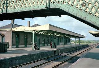 Okehampton station (1), 1975
