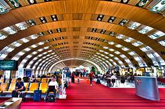 Charles de Gaulle Airport (ClickSnapShot) Tags: architecture vanishingpoint airport waiting floor interior perspective indoor passengers hdr charlesdegaulleairport ilobsterit