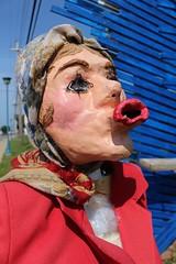 Papier-mâché Installation, Cape Breton (elisecavicchi) Tags: travel summer sculpture canada color nova installation cape scotia papier brilliant mache breton