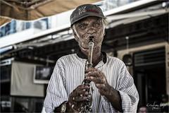 Poor Clarinet (Cristian Lupi 72) Tags: portrait pub greece grecia musica ritratto clarinet clochard vecchio musicale anziani mendicante anziano katakolon povero strumento clarinetto cristianlupi