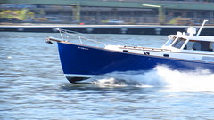IMG_6270 (Sebastian Sinisterra Photography) Tags: new york city nyc blue west water by speed river boat afternoon shot manhattan low fast 9 east queens shutter pan 16 169