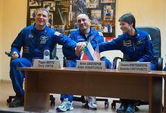 Expedition 42 Press Conference (201411220020HQ) (NASA HQ PHOTO) Tags: nasa kazakhstan pressconference baikonur terryvirts cosmonauthotel baikonurcosmodrome samanthacristoforetti antonshkaplerov expedition42 russianfederalspaceagencyroscosmos aubreygemignani soyuztma14m
