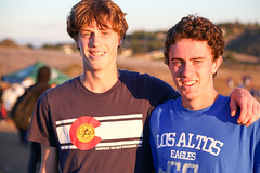 Kent (Palo  Alto) and Ben (Los Alto) after their 2-1 finish. (Malcolm Slaney) Tags: championship crosscountry xc crystalsprings 2015 scval
