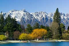 Queenstown and Remarkables ll (fate atc) Tags: blue trees mountains landscape nz promenade southisland centralotago queenstown picturesque foreshore lakewakatipu chocolatebox theremarkables sonya99